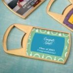 Personalized Epoxy Dome Gold Metal Bottle Opener Party Favors