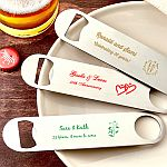 Personalized 7 Inch Stainless Steel Bartenders Bottle Opener Anniversary Party Favors