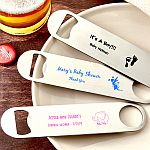 Personalized 7 Inch Stainless Steel Bartenders Bottle Opener Baby Shower Favors