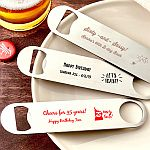 Personalized 7 Inch Stainless Steel Bartenders Bottle Opener Birthday Party Favors