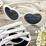 Personalized Metallic Heart Shaped Sunglasses Baby Shower Favors