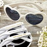 Personalized Metallic Heart Shaped Sunglasses Birthday Party Favors