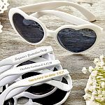 Personalized Metallic Heart Shaped Sunglasses Graduation Party Favors
