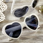 Heart Shaped White Sunglasses
