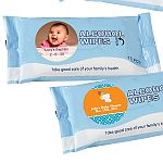 Personalized Expressions Alcohol Wipes Baby Shower Favors (Pack of 10 Sheets)