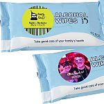 Personalized Expressions Alcohol Wipes Birthday Party Favors (Pack of 10 Sheets)