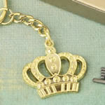 Gold Metal Crown Design Key Chain