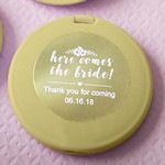 Personalized Metallics Collection Gold Compact Mirror Favors