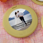 Personalized Expressions Collection Gold Compact Mirror Favors