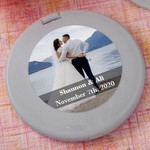 Personalized Expressions Collection Silver Compact Mirror Favors