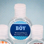 Personalized Expressions Hand Sanitizer Baby Shower Favors (62% Alcohol, 60 ml Size)