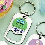 Personalized Stainless Steel Small Key Chain Bottle Opener Baby Shower Favors