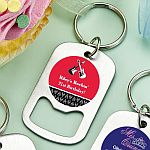 Personalized Stainless Steel Small Key Chain Bottle Opener Birthday Party Favors