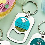 Personalized Stainless Steel Small Key Chain Bottle Opener Graduation Party Favors
