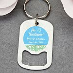 Personalized Stainless Steel Small Key Chain Bottle Opener Religious Event Favors