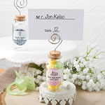 Personalized Glass Jar with Place Card Holder Baby Shower Favors
