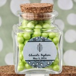 Personalized Expressions Square Clear Glass Treat Jar Baby Shower Favors