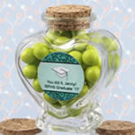 Personalized Expressions Heart Shaped Glass Jars - Graduation