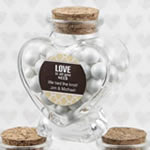 Personalized Expressions Heart Shaped Glass Jars - Wedding Favors