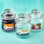 Personalized Expressions Glass Jar with Sealed Cover Party Favors