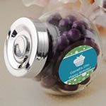 Personalized Expressions Collection Large Candy Jar with Silver Vacuum Seal Cap