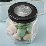 Personalized Metallics Collection Small Hex Jar Party Favors