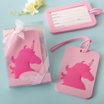 Pink Unicorn Design Luggage Tag