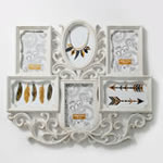 Wall Collage - Antique Ivory Color - 6 Openings