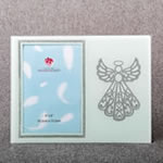 Silver Angel Glass 4 x 6 Picture Frame