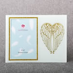 Gold Angel Wings on White 4 x 6 Picture Frame