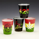 Set of 4 Roast & Toast Shot Glasses