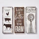 Set of 3 Canvas Decor Wall Signs - Farm Designs