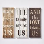Set of 3 Canvas Decor Wall Signs - Love Designs