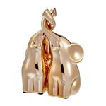 Champagne Gold Set of 2 Small Intertwined Elephants