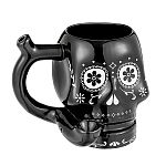 Black Sugar Skull Roast and Toast Small Mug