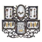 Wall Collage Picture Frame - Bronze Color - 6 Photo Openings