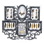 Wall Collage Picture Frame - Pewter Color - 6 Photo Openings