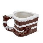 Cake Shape Coffee Mug with Novelty Pipe