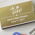 Personalized Metallics Collection Matchbox Baby Shower Favors (Pack of 50)