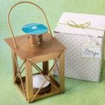 Personalized Expressions Love Lights the Way Luminous Lantern in a Matte Gold Finish