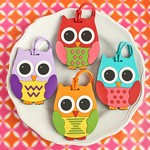 Owl Design Luggage Tags - Four Assorted in 24 Piece Display Box