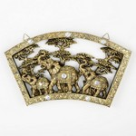 Stunning Triple Elephant Plaque - 16 3/4