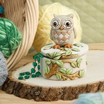 Night Owl on a Branch Trinket Boxes
