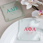 Personalized Glass Coasters (Greek Designs)