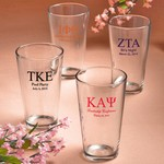 Personalized Pint Glasses (Greek Designs)