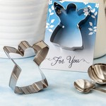Guardian Angel Themed Tin Metal Cookie Cutter with Shiny Silver Finish