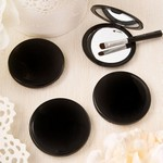 Perfectly Plain Collection Black Compact Mirror