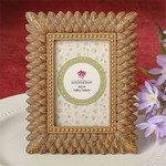 Brushed Gold Leaf Design Place Card Frame / Photo Frame