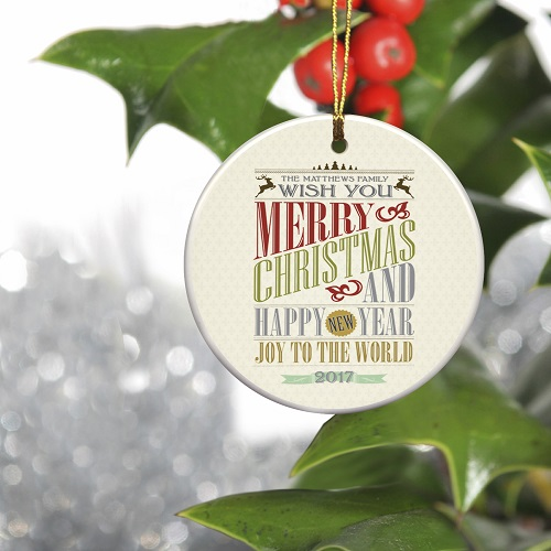 personalized vintage christmas ornament christmas words famous