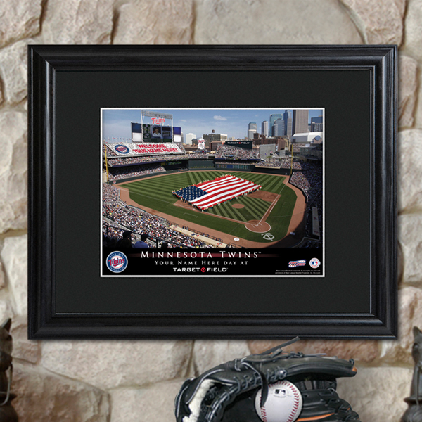 Milwaukee Brewers Bedroom In A Box Major League Baseball: Personalized Major League Baseball Stadium Print With Wood